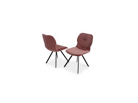 Krzesło tc meble dobrodzień w kolorze różowym aksamity