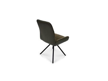 Krzesło w kolorze zielonym skóra i tkanina aquaclean