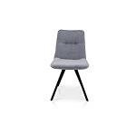 Krzesło z jednym przeszyciem z tkaniny impregnowanej koloru szarego