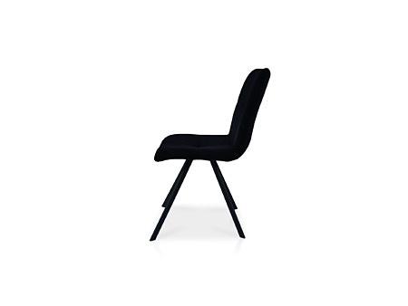 Krzesło z metalową nóżką ciemna tkanina niebrudząca się