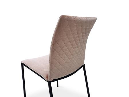 Krzesło z pikowanym oparciem w tkaninie aksamitnej
