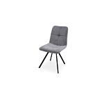 Krzesło z preszyciem na siedzisku i oparciu bardzo wygonie wyprofilowane