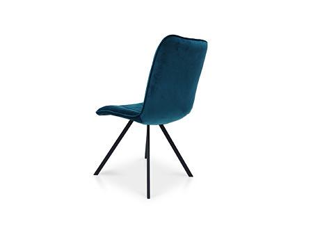 Minimalistyczne krzesło do nowoczesnego wnętrza na czarnych nogach