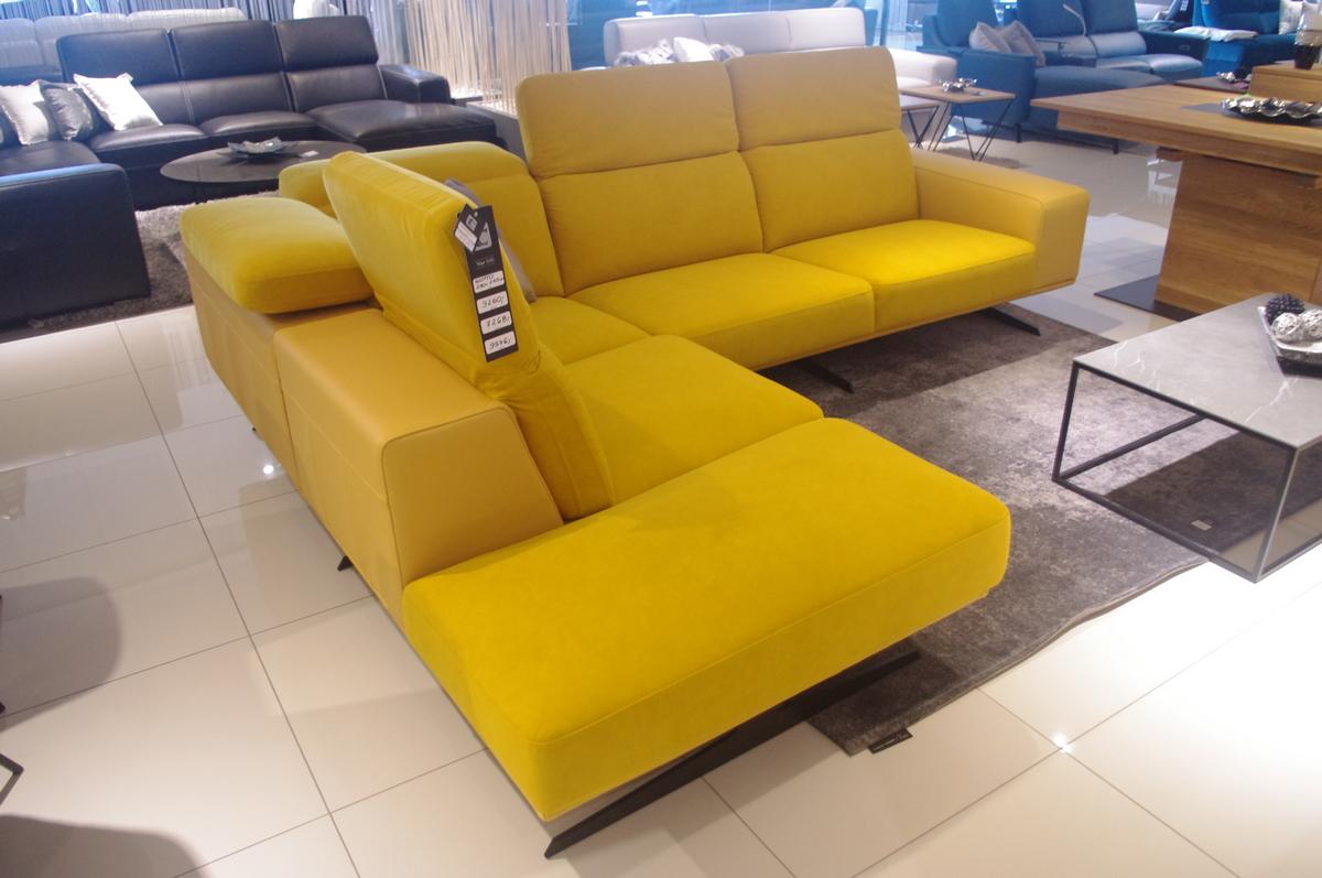 Narożnik żółty materiał Daytona do salonu