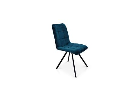 Niebieskie krzesło z materiału odopornego na zabrudzenia i plamy