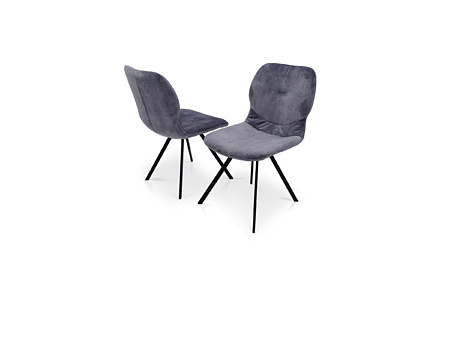 Noga metalowa krzesło do jadalni tapicerowane