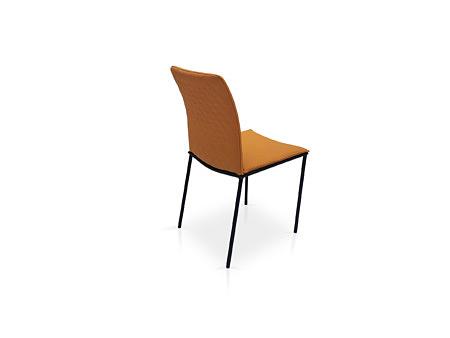 Nowoczesne krzesło do jadalni na metalowych czarnych nóżkach