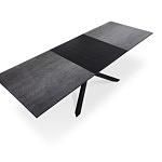 Nowoczesny elegancki stół do jadalni rozkładany 180 x 90cm czarny