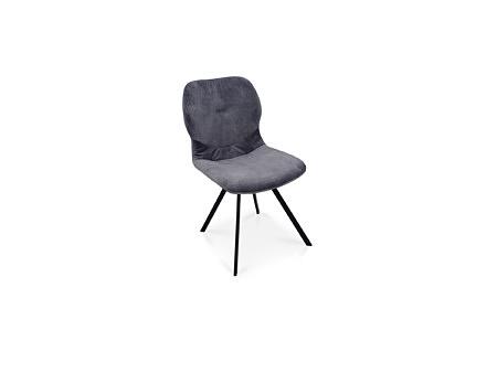 Nowość krzesełko z tkaniny odpornej na zabrudzenia szary kolor