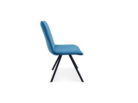 Piękne krzesło głęboki niebieski kolor na 4 nóżkach metalowych