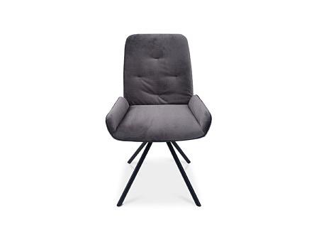 Stabilne i mocne krzesło w kolorze szarym tkanina decoma
