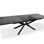 Stół na metalowej nodze a8 z czarnymi wkładkami