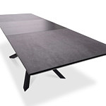 Stół rozkładany z blatem ze spieku kwarcowego loft styl industrial