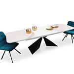 Stół w kształcie beczki lakierowany ze spiekiem kwarcowym