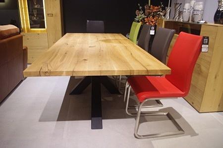 Stół z blatem dębowym do salonu