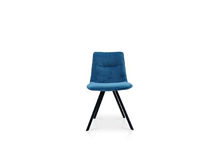 Stołek w nowoczesnym stylu na metalowej nóżce koloru niebieskiego