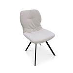 Stylizowane krzesło do eleganckiej jadalni minimalistyczne czarne nóżki