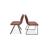 Stylowe krzesła w stylu industrialnym na nogach metalowych