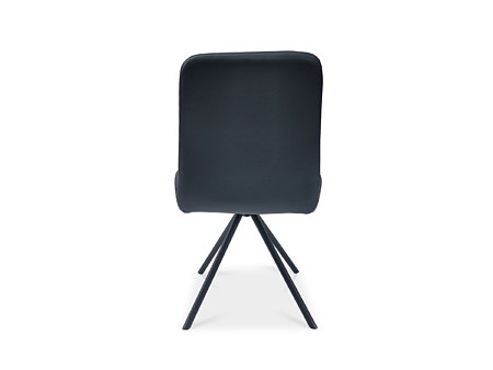 Stylowe krzesło z czarnej skóry naturalnej