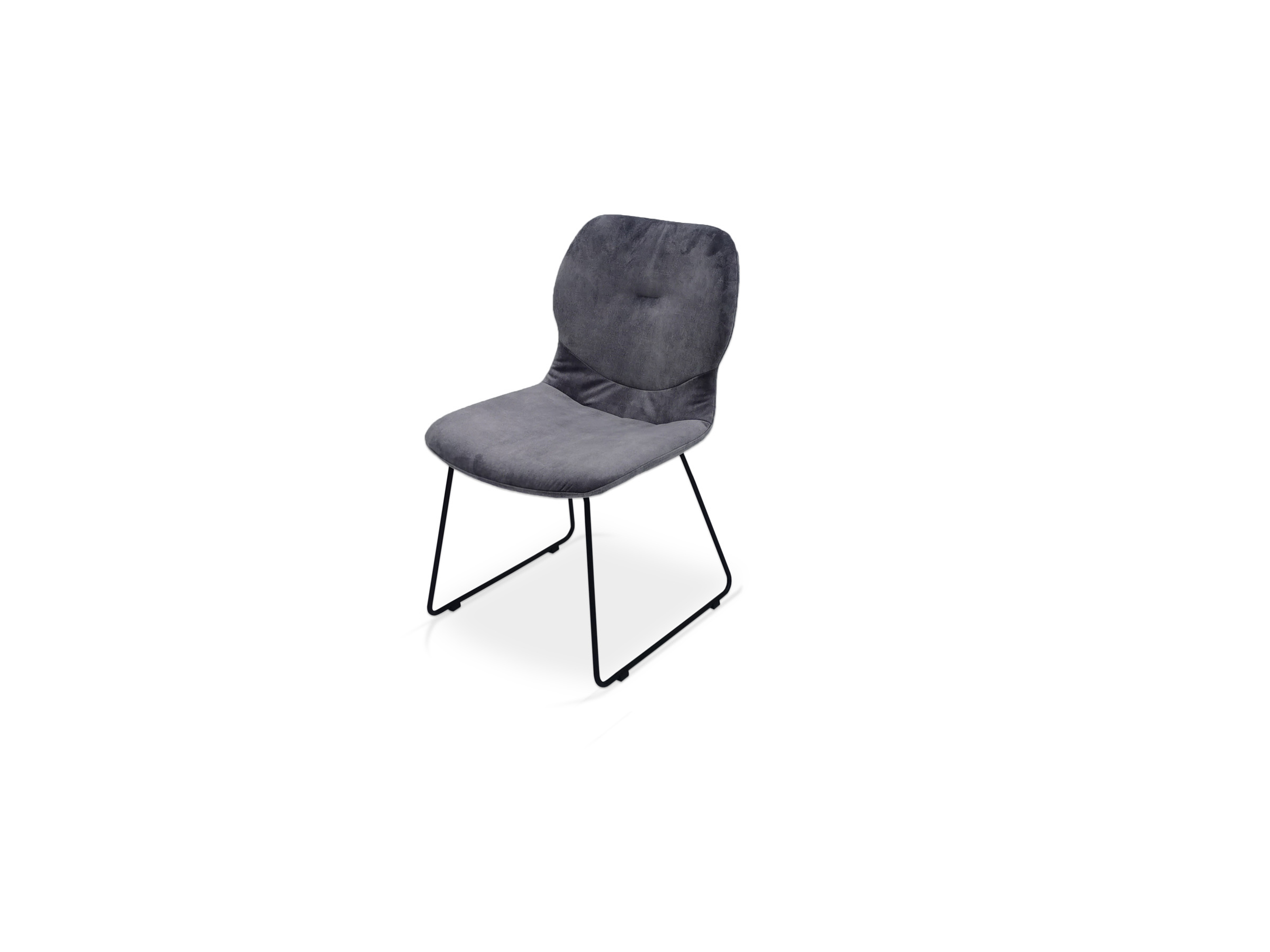Szre krzesełko na czarnej nóżce płoza
