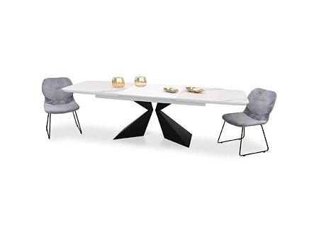 Tisch mit keramikplate statuario venato rozkładany