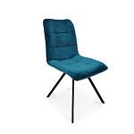 Wygodne krzesełko dobrze wyprofilowane na czarnej nodze metalowej