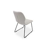 Wygodne krzesło do nowoczesnego mieszkania na nodze malowanej proszkowo