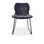 Wygodne stabilne krzesło na metalowej płozie koloru czarnego malowana proszkowo
