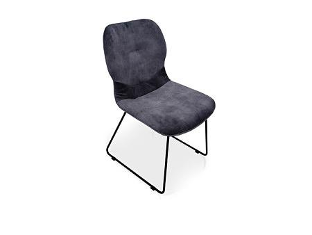 Krzesełko z przeszyciem na płozie metalowej wygodne i bardzo funkcjonalne