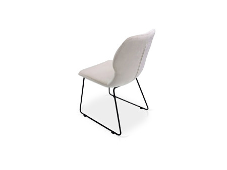 Krzesło loftowe designerskie biała tapicerka