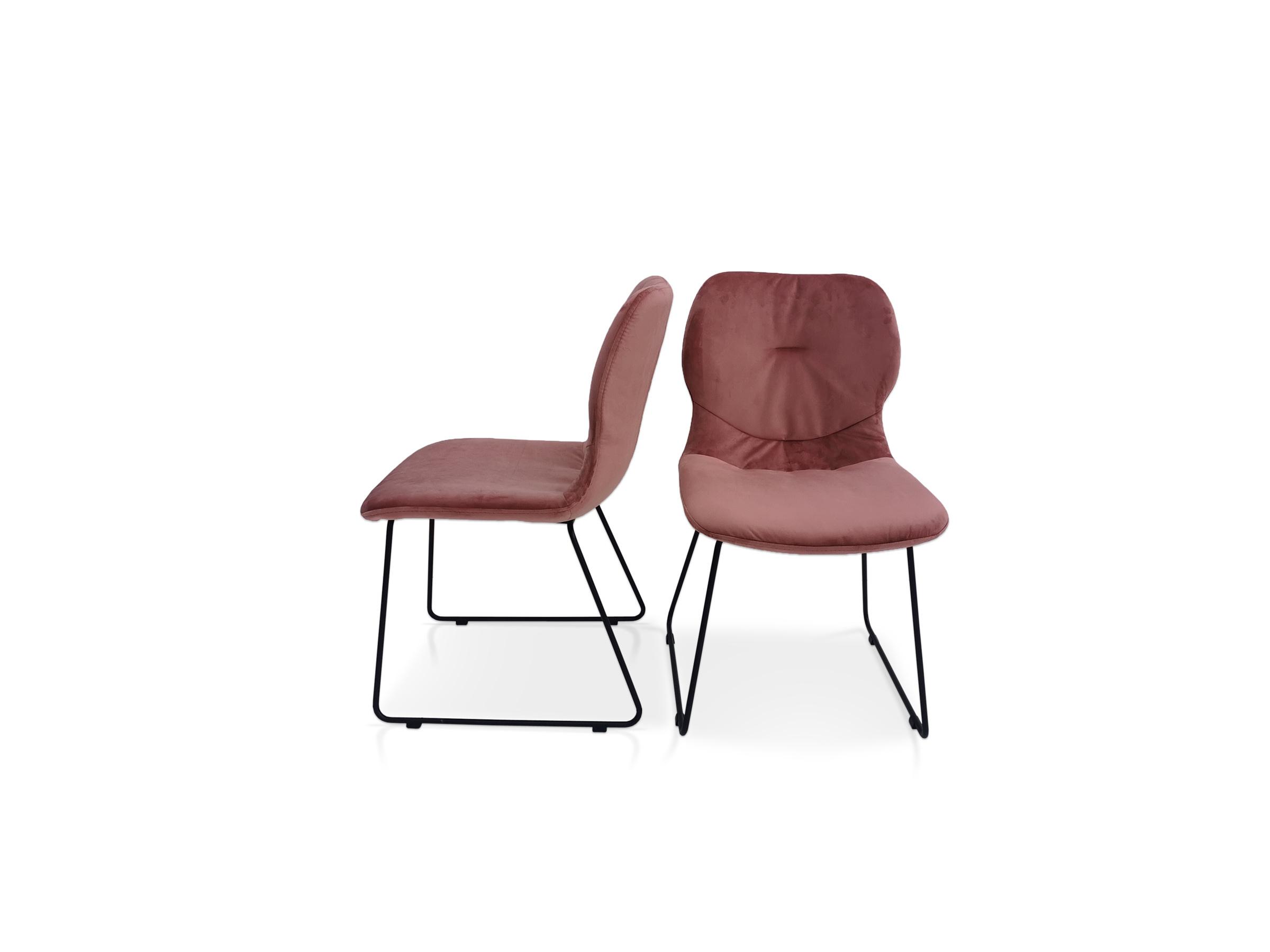 Krzesło metalowy stelaż i tkanina odporna na plamy