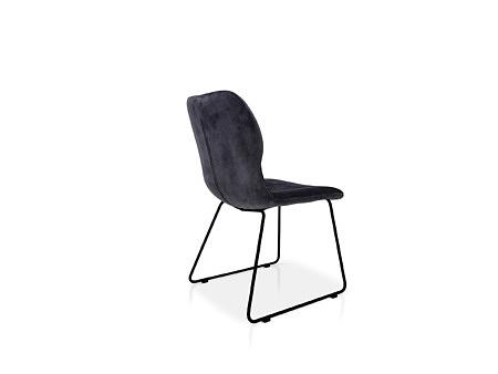 Krzesło tc meble z dobrodzienia koloru granatowego w tkaninie velvet