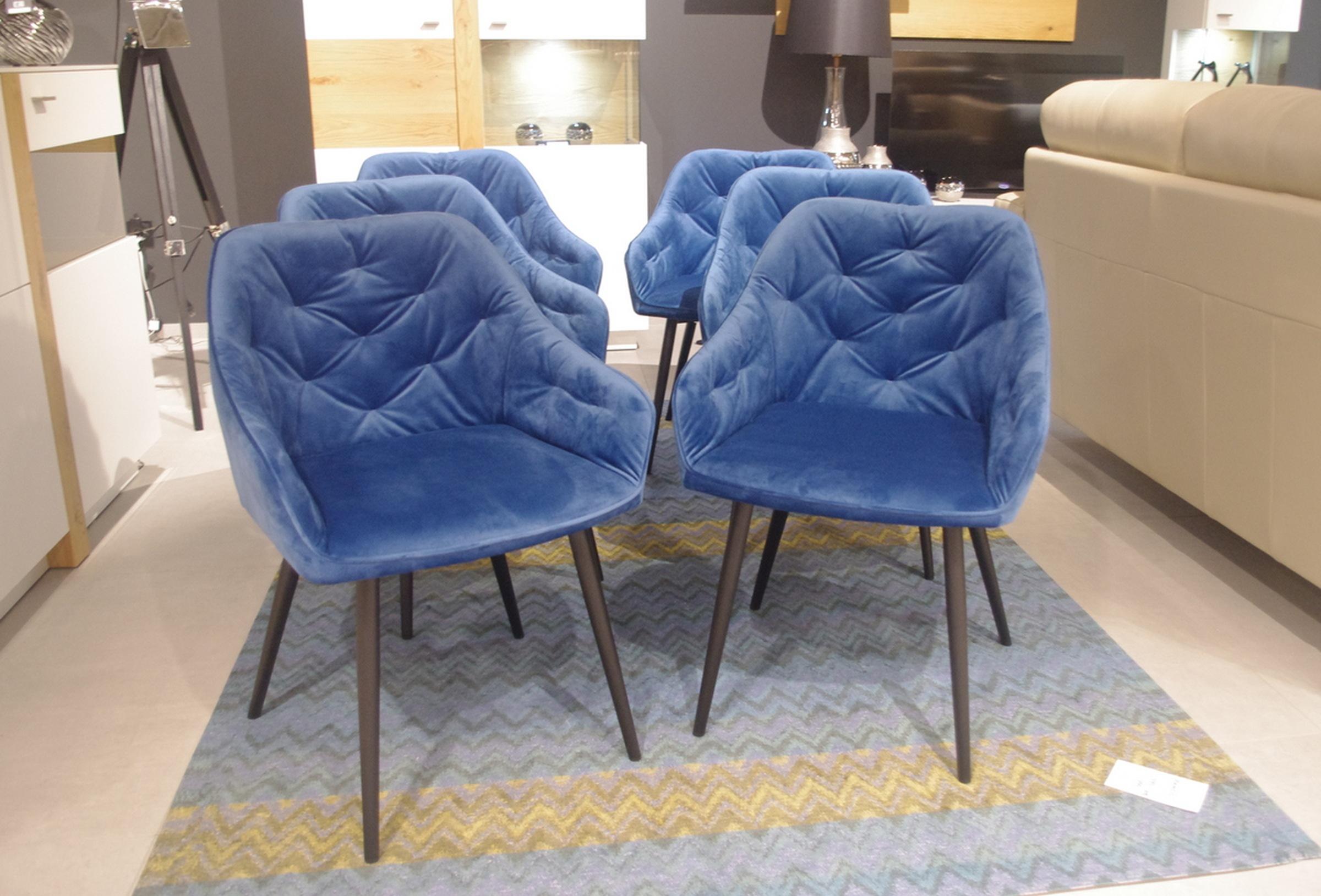 Krzesła k02 niebieskie tc meble dobrodzień