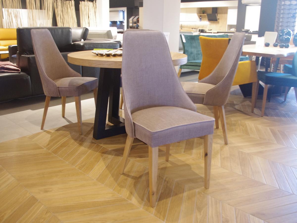 Krzesła Marcelo do salonu tkanina