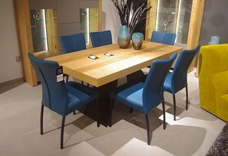 Krzesła salma niebieskie nowoczesne