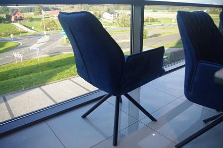 Krzesło k01 fotelik niebieski