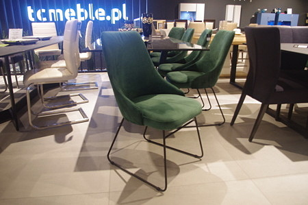 Krzesło nowoczesne zieleń butelkowa indusria