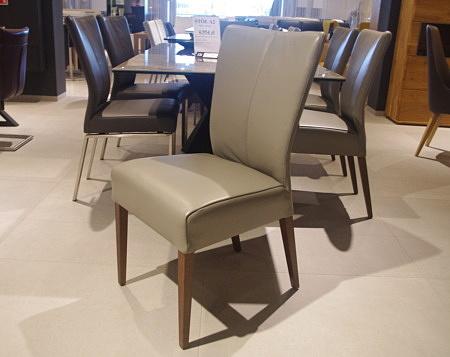 Krzesło romus skóra szara