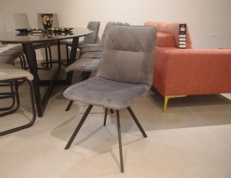 Krzesło szare industrialne