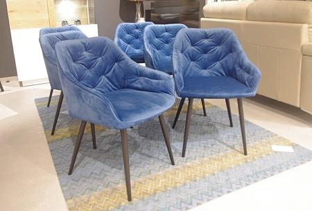 Nowoczesne krzesła pikowane w stylu loft