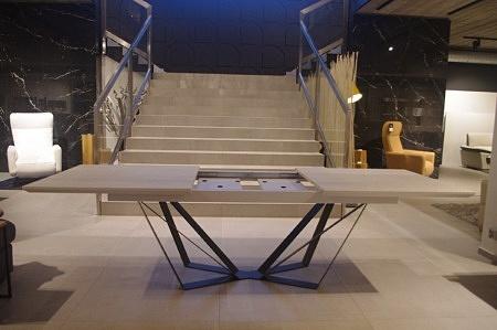Stół rozkładany spiek kwarcowy nogi metalowe stół do jadalni