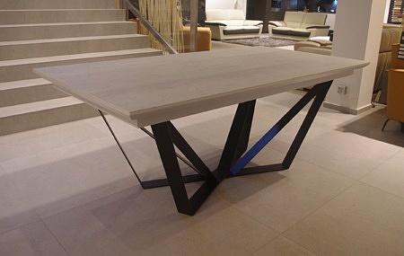 Stół z blatem spiek kwarcowy laminam