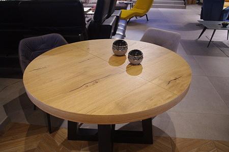 Stół julian okrągły dąb sękaty szczotkowany