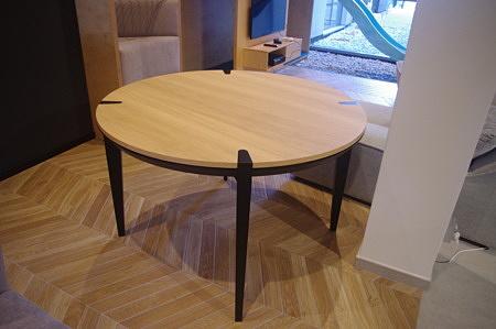 Stół rozkładany okrągły dębowy