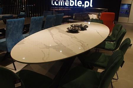 Blat do stołu industrialny owalny