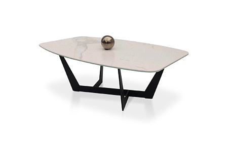 COFFE TABLE CERAMIC TABLE LAMINAM BLACK LEGS