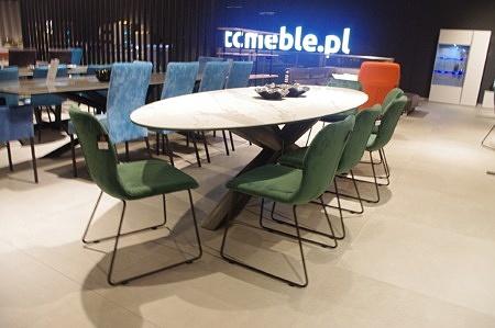 Krzesła TC 12 zielony aksamit