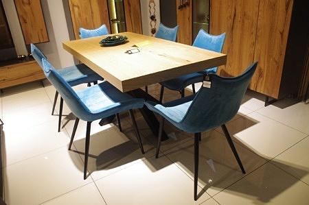 Krzesła tc07 aksamitny materiał niebieski