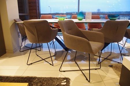 Krzesło fotelik szary loftowy