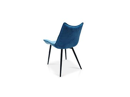 MODNE KRZESŁO TC K07 niebieskie na 4 metalowych nogach stabilne i wytrzymałe tkanina PARIS ELASTRON